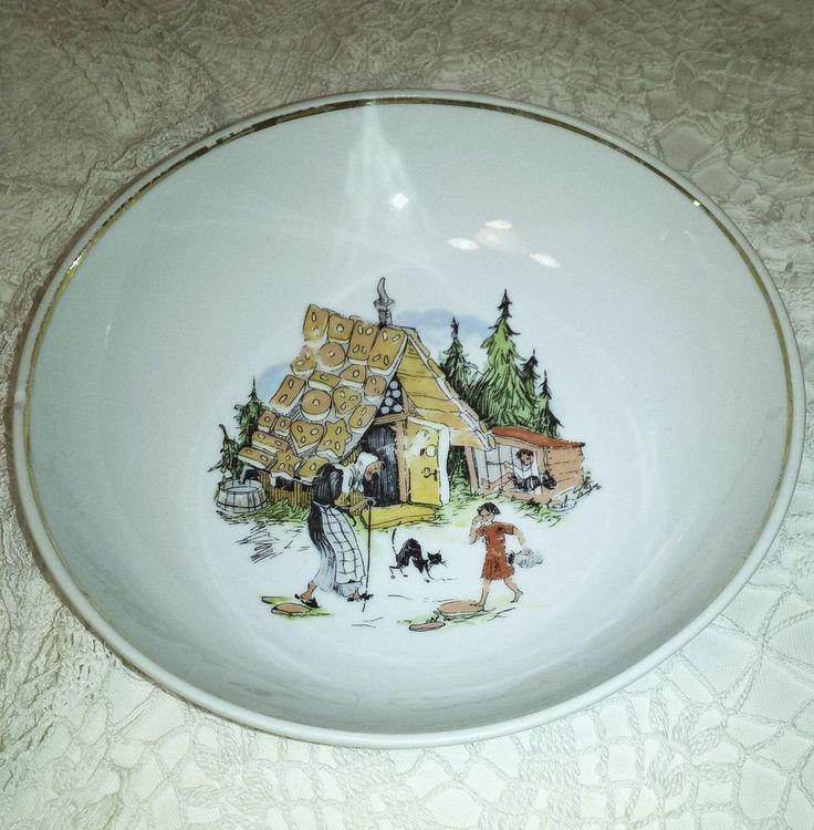 Hollóházi jancsi és Juliska mese tányér - Porcelán | Galéria Savaria online piactér - Antik, műtárgy, régiség vásárlás és eladás