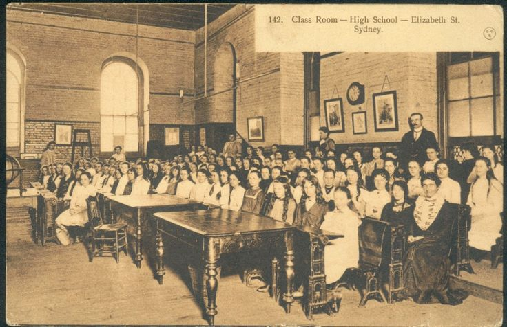 """The Public Instruction Act of 1880 established eight high schools in NSW- Four for boys and Four for girls - in Sydney, West Maitland, Bathurst and Goulburn, N.S.W """"to provide a course of instruction for the completion of the Public School Curriculum and the preparation of students for the University of Sydney"""". Following an examination 46 boys and 39 girls qualified.  v@e."""