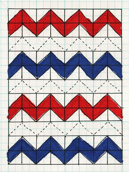 #ZigZag #Quilt: #Quilted #Half-Square #Triangle #tutorial
