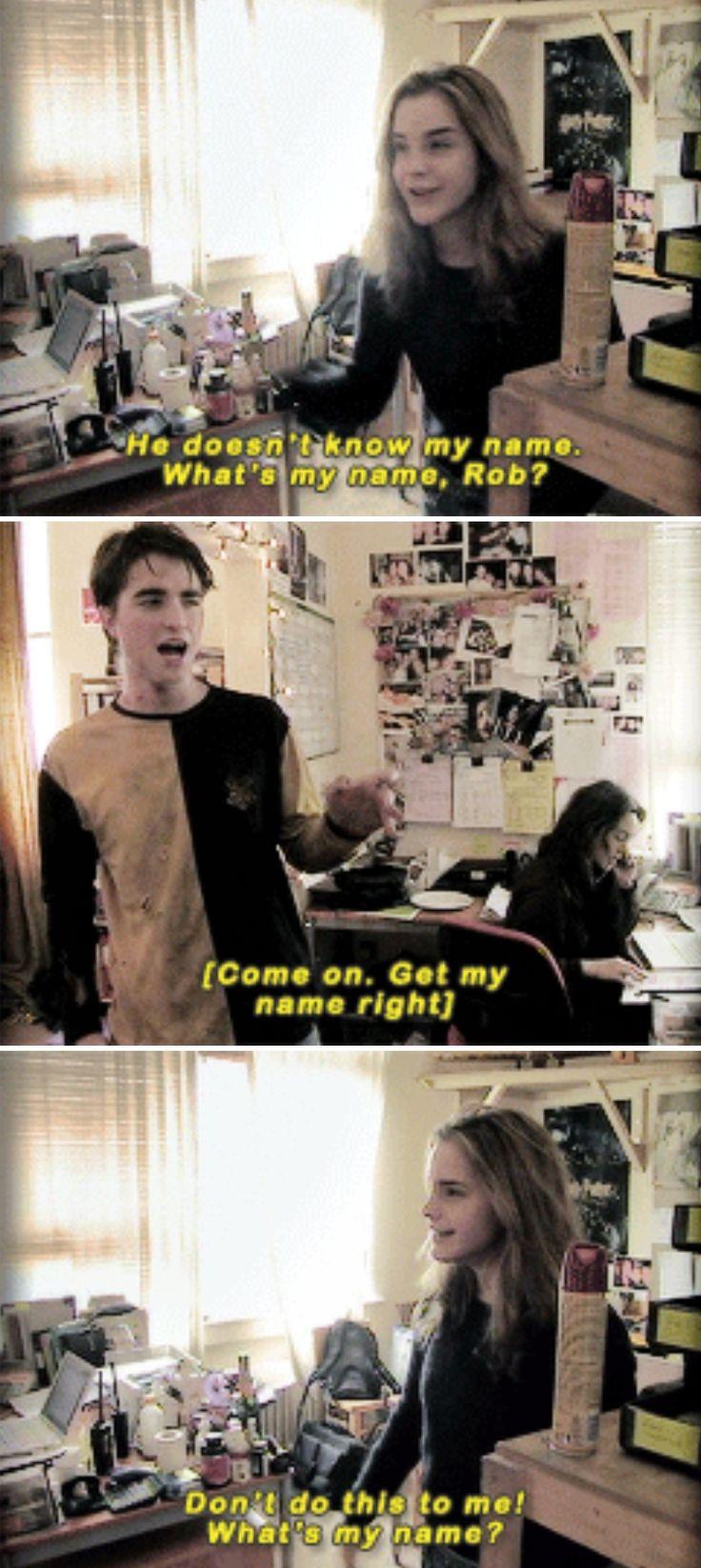 Emma Watson and Robert Pattinson - HP cast