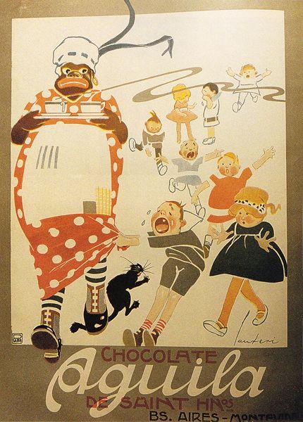 afiche chocolate aguila 1917