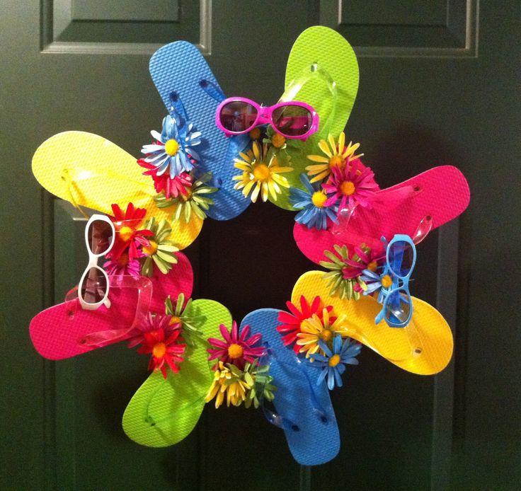 A fun, summer flip-flop wreath.