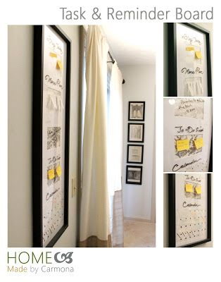 Home Made by Carmona: Task & Reminder Board