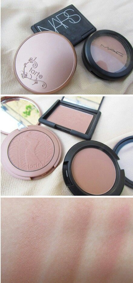 Tarte Exposed, Nars Doucear, Mac Tenderling. The best of nude pink blushes.