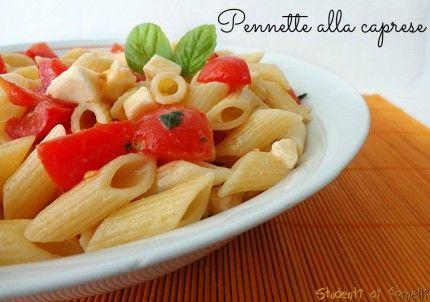 pennette alla caprese con pomodorini e mozzarella ricetta pasta fredda