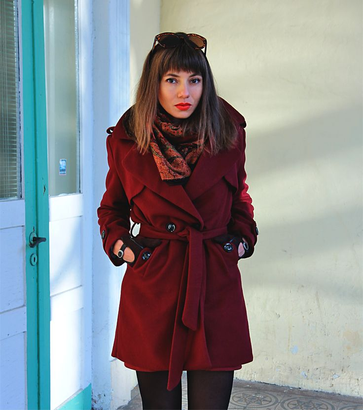 burgundy wool trench coat ootd: https://jointyicroissanty.blogspot.com/2017/11/winter-essentials.html