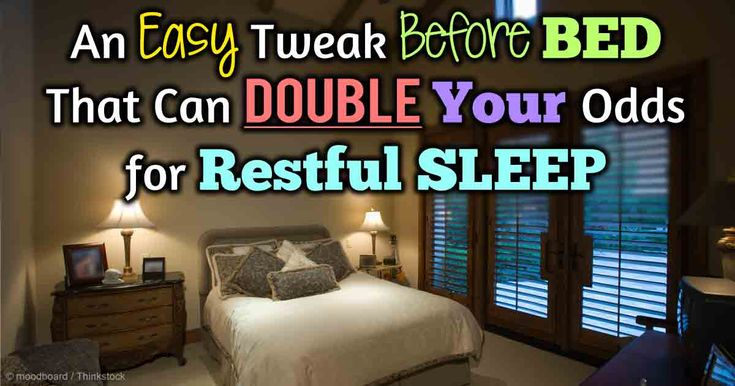 According to recent research, poor sleep can have a significant bearing on metabolic disorders such as obesity, hypertension, and type 2 diabetes. Here's an easy tweak you can do before bed to double your odds for restful sleep.