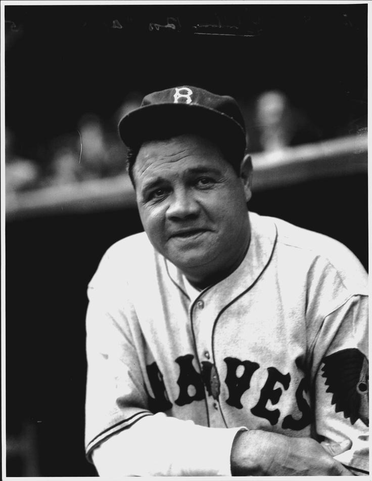 Babe Ruth, 1935 Boston Braves Babe ruth, Baseball