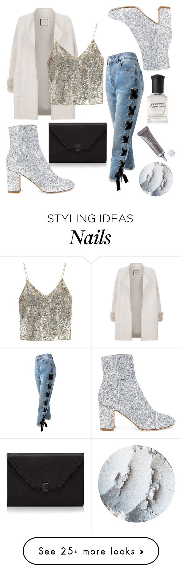 """""""Just enough"""" by hejamieson on Polyvore featuring Sans Souci, Valextra, Polly Plume, Max & Moi, Alice + Olivia, Deborah Lippmann and Christian Dior"""