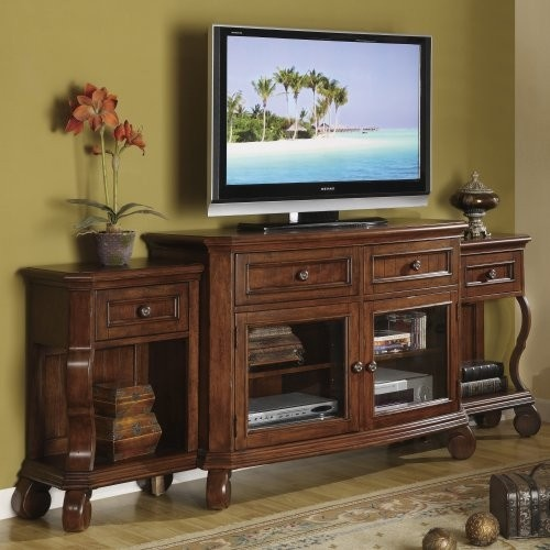 Riverside Cape May Chadwick Cherry Extended TV Console traditional media storage