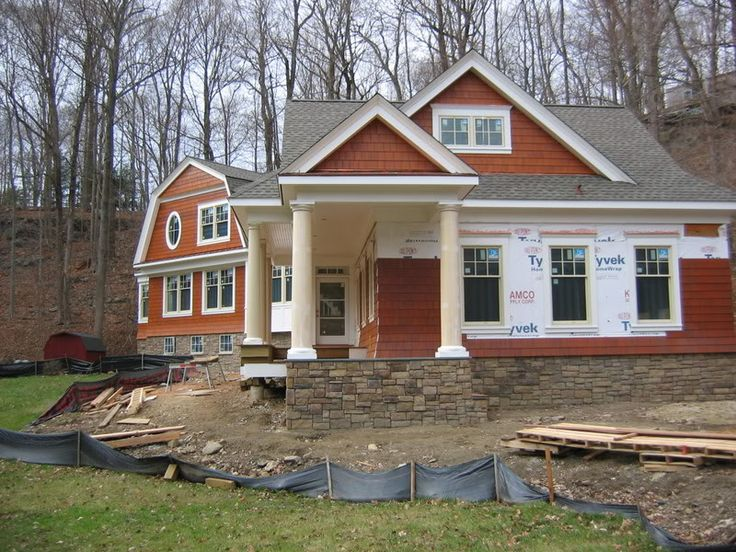 An Alternative To Cedar Shake Shingles Nichiha S Fiber Cement Shakes Stained A Redwood Color Look Like Ced House Paint Exterior Facade House My House Plans