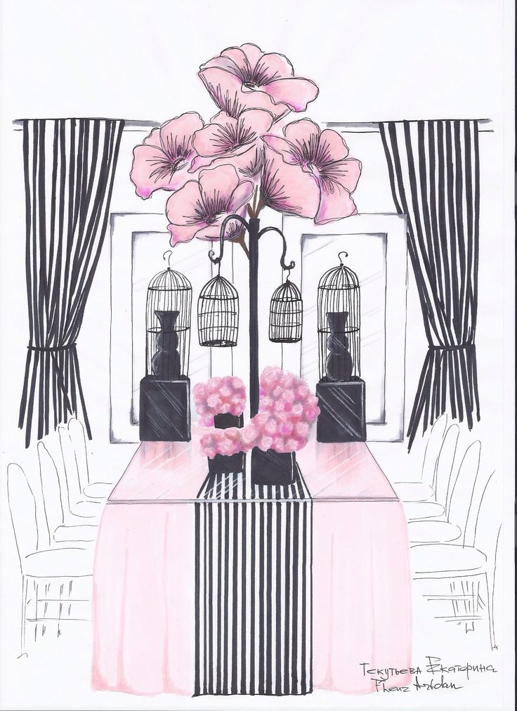 Эскиз оформления в стиле Париж