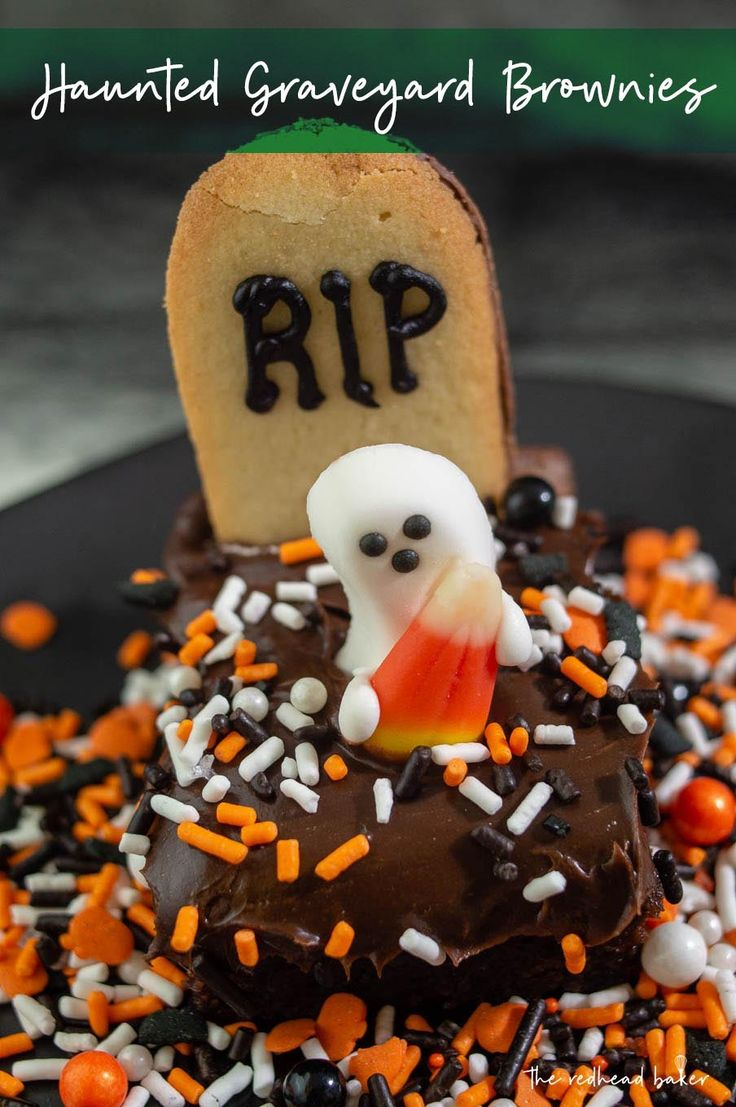 Haunted Graveyard Brownies Recipe Best dessert recipes