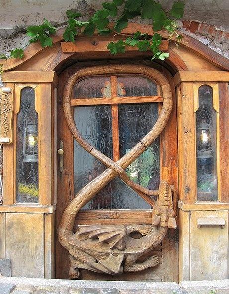 Unique front door someones knocking at my door pinterest for Unique front doors for homes