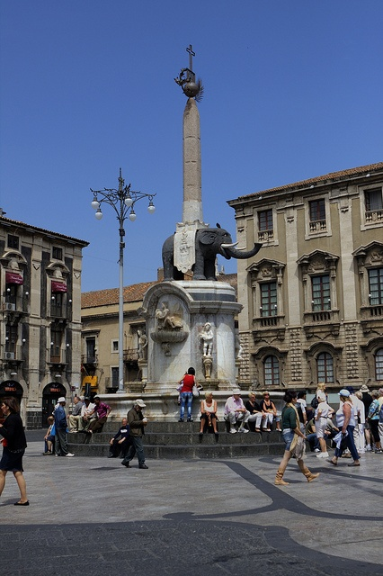 Lava Elephant, Catania, Sicily Was just at this square 12. 15/12