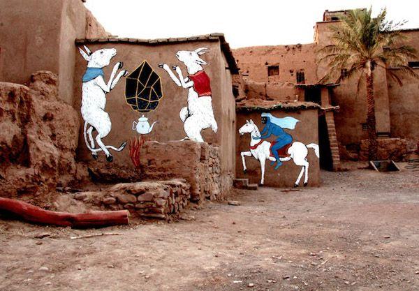 ERICA IL CANE & ANDRECO IN MOROCCO ( http://www.juxtapoz.com/Street-Art/erica-il-cane-a-andreco-in-morocco# )