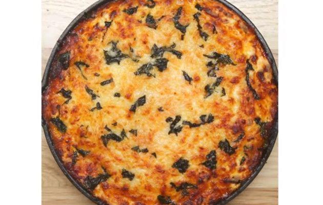 Lasagne in a skillet, video! / Pannulasagne, video!