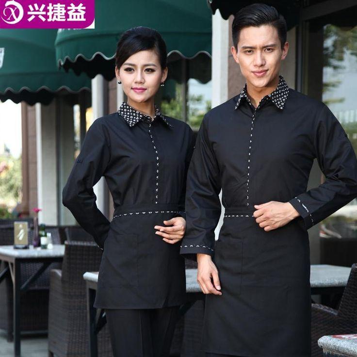 Cheap Primavera y otoño manga larga overol personal del hotel restaurante uniformes de camarera de recepción del hotel de ropa, Compro Calidad   directamente de los surtidores de China: