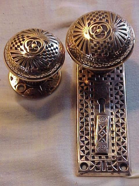 antique brass doorknobs