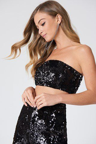 Sequins Bandeau Top