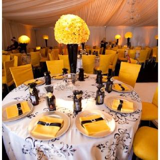 Yellow and black #wedding
