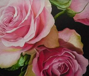 Roses, 180x220 cm, oil on canvas
