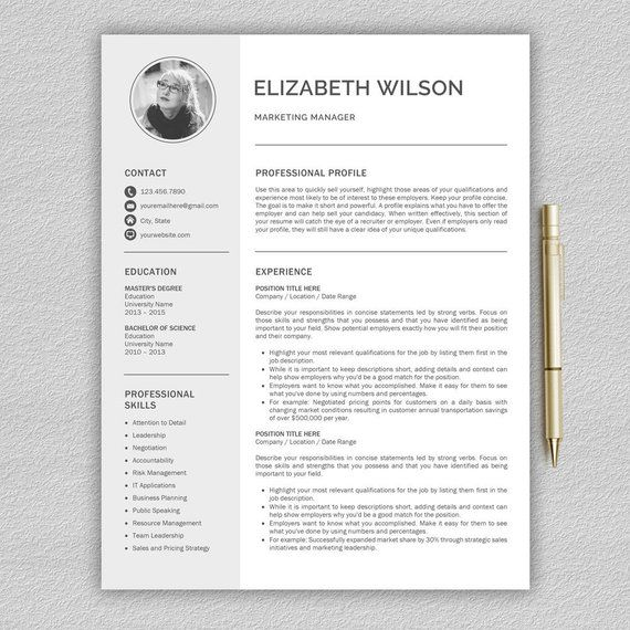 Resume Template Cv Template Cover Letter Professional Resume Template For Word And Pages Creative And Modern Resume Professional Cv Resume Template Cv Template Resume Templates