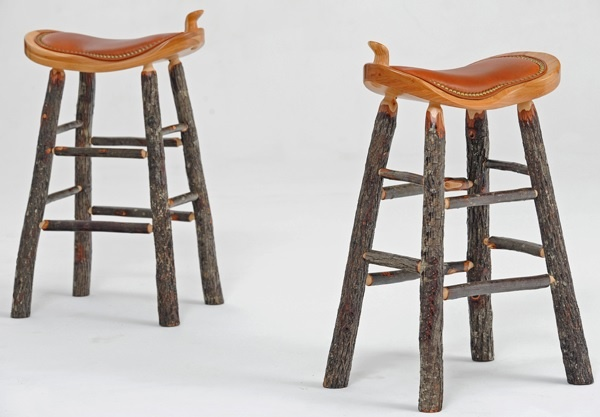 Lizardflats can you make something like this?  Hickory Bar Stool - Saddle Seat - Item # BS00816 - Custom Sizes Available