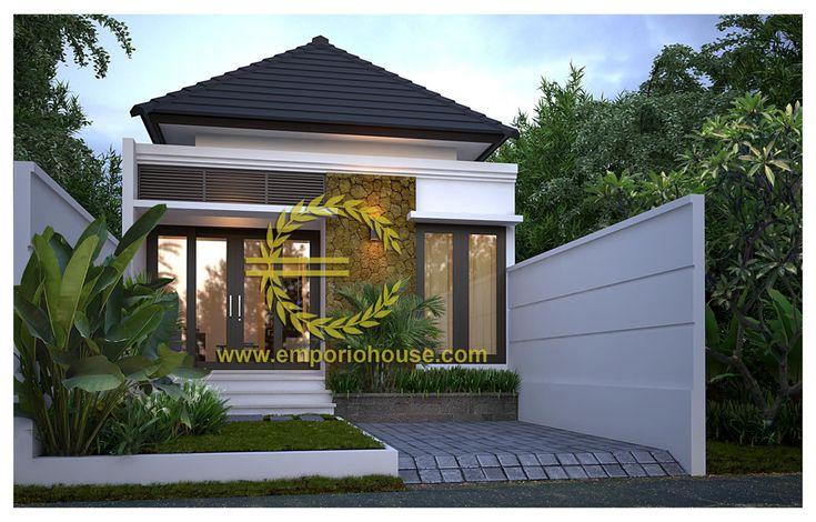 Desain Rumah 1 Lantai 3 kamar Lebar Tanah 6 meter dengan ukuran Tanah 1 are/100m2