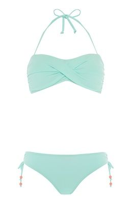 We're in love with this mint bandeau bikini set from Primark!
