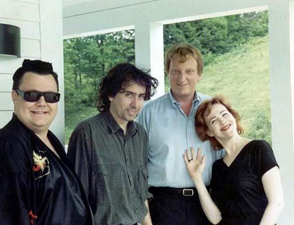 Photo of Beetlejuice during filming. RIP Glenn Shadix.