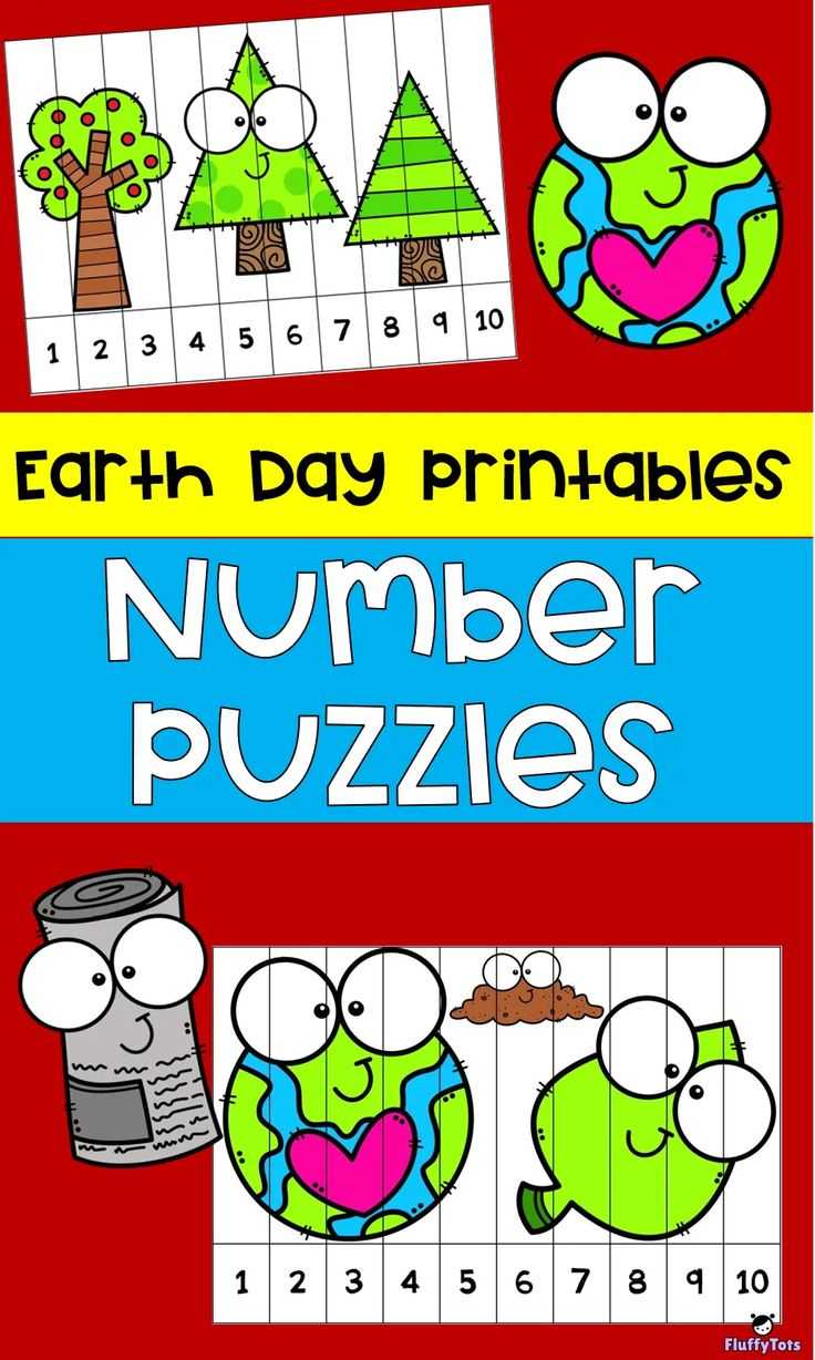 Earth Day 123 Number Puzzle : FREE 6 Puzzles | Earth day ...