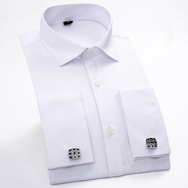 Promotion price Men French Cufflinks Shirt 2017 New Men's Shirt Long Sleeve Casual Male Brand Shirts Slim Fit French Cuff Dress Shirts For Men just only $12.99 - 14.99 with free shipping worldwide  #shirtsformen Plese click on picture to see our special price for you