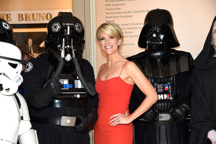 NEW YORK, NY - MAY 24:  Megyn Kelly (C), Darth Vader and Stormtroopers from the 501st Legion attend New York Philharmonic's Spring Gala, A John Williams Celebration at David Geffen Hall on May 24, 2016 in New York City.  (Photo by Kevin Mazur/Getty Images for New York Philharmonic) via @AOL_Lifestyle Read more: https://www.aol.com/article/entertainment/2017/04/12/megyn-kellys-first-nbc-interview-with-vladimir-putin/22037056/?a_dgi=aolshare_pinterest#fullscreen