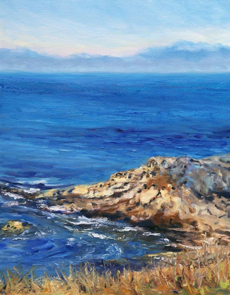 By the Shore Mayne Island BC oil painting by Terrill Welch