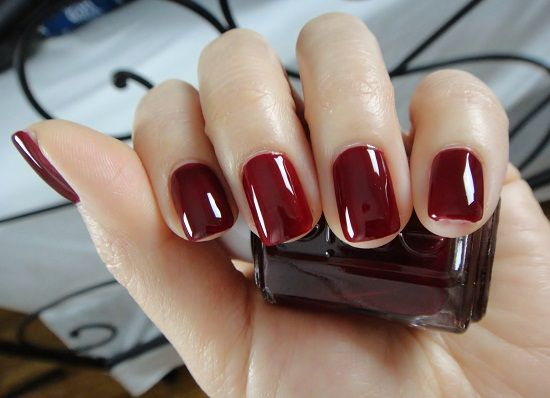 Oxblood - The always popular, fiery red hue is pretty much officially out and the darker, crimson, blood red shade is officially in! Essie's new 'Bordeaux' polish was recently seen on the NYFW fall/winter 2014 runways at the likes of Reem Acra and Naeem Khan.   -Nail Trends: 5 Winter Manicures To Try This Season | Nubry - San Diego's #1 Fashion, Beauty, Events And Lifestyle Blog - What To Wear, Insider Tips, & Celebrity Trends