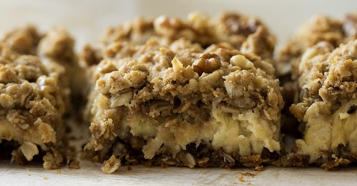 Sour Cream Apple Crumble Bars--sub gluten free flour (xanthan gum instead of baking soda?)