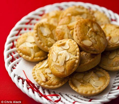 Frangipane mince pies (add orange zest to shortcrust pastry and fold over before rolling out) - went down a storm, do these again