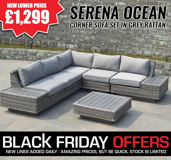 Big Sale !! Black Friday Special !! Free Delivery Corner Sofa Set + 10 Years Guarantee Buy Now:  http://www.brooksrattangardenfurniture.co.uk/black-friday/serena-ocean-corner-sofa-set-in-grey-rattan.html  #Blackfriday #Sale #Fridaysale #Furniture #Sofaset #Essex #UK