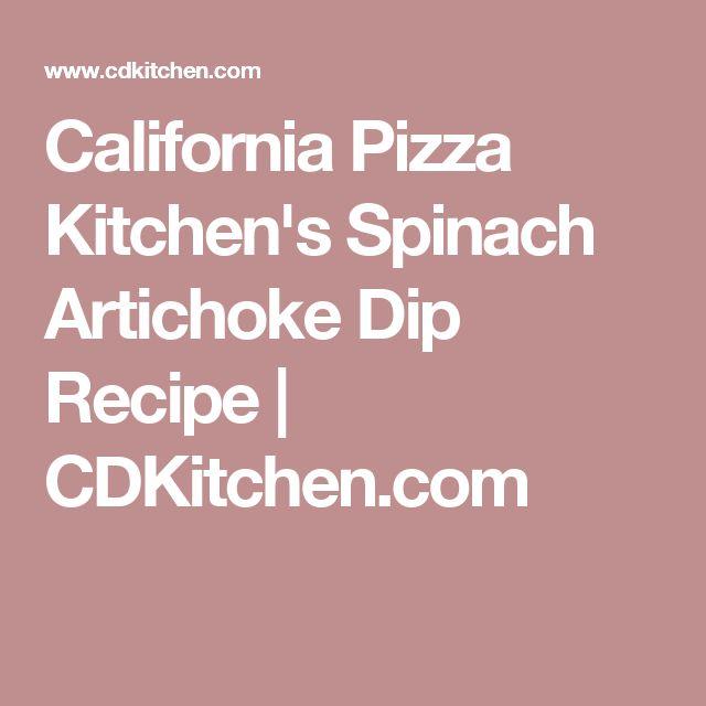 California Pizza Kitchen's Spinach Artichoke Dip Recipe | CDKitchen.com