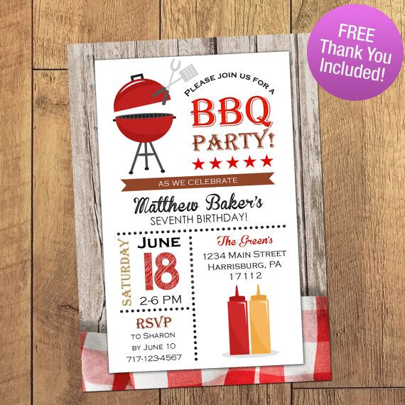 90 best printables images on Pinterest Bbq party, Summer bbq and - bbq invitation template