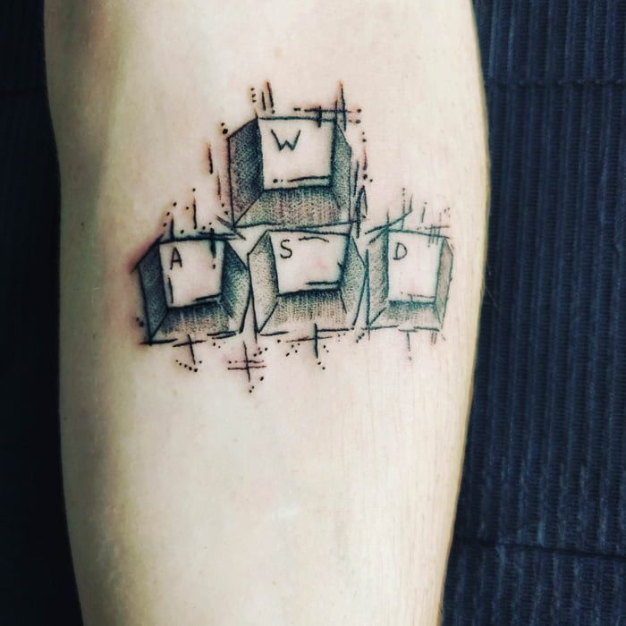 Speaking Of Gaming Tattoo S Here S Mine I Just Got Gaming Tattoo Computer Tattoo Gamer Tattoos