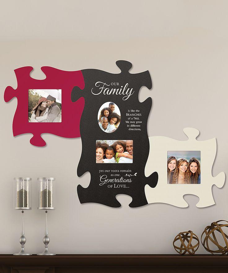 'Family' Puzzle Photo Frame Set