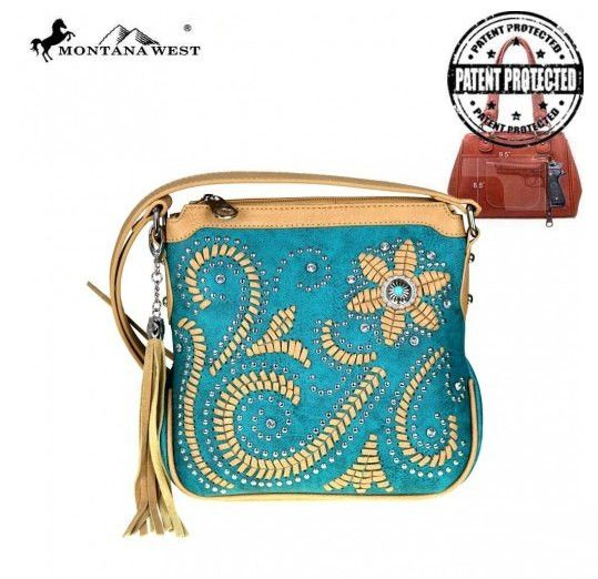 Montana West Concho Collection Concealed Handgun   #In need of a great concealed carry bag? #concealedcarrypurse #westernsoul1 #westernpurse #westernhandbag #fashionista #concealedcarry