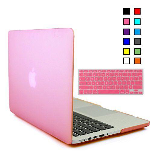 Gosin UP lastic & Tastatur Cover Tasche Schutzhülle Case für Multi-Größen und Farben-Macbook als Macbook Pro 13'', Macbook Pro 13'' mit Retina Display, Macbook Pro 15'', Macbook Air 13'', Macbook Air 11 (Macbook Pro 13, Pink)