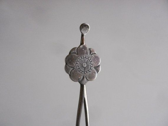 Vintage Kanzashi From Japan With Delicate Flower Emblem Hair Comb Hairpin Hair Ornament 十五214
