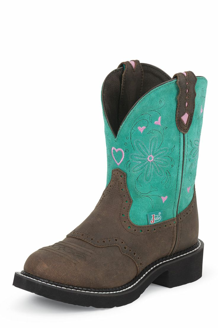 justins Boots | Justin Boots Gypsy Lagoon Blue Suede Cowgirl Boots