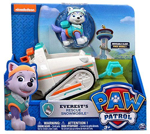 Amazon Com Nickelodeon Paw Patrol Everest S Rescue Snowmobile