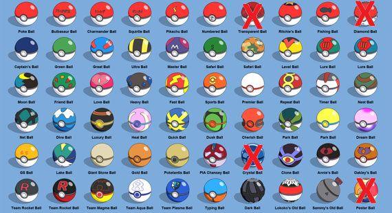 Better List Of Pokeballs Pokemon Pinterest Miniature