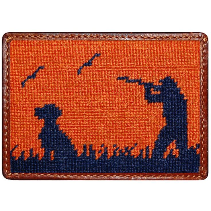 Bird Hunter Credit Card Wallet in Orange by Smathers & Branson